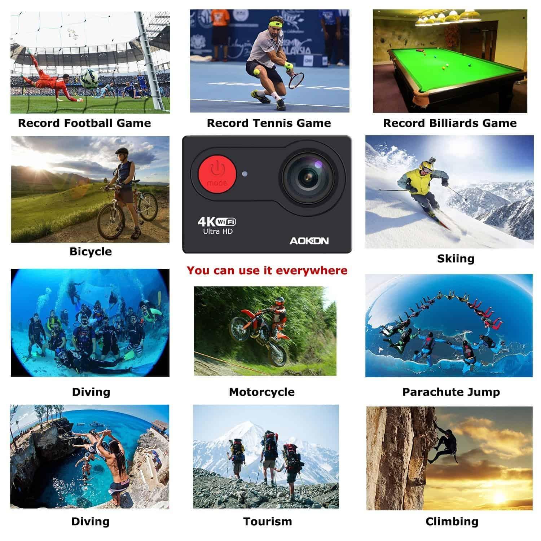 AOKON 4K portable sports action camera