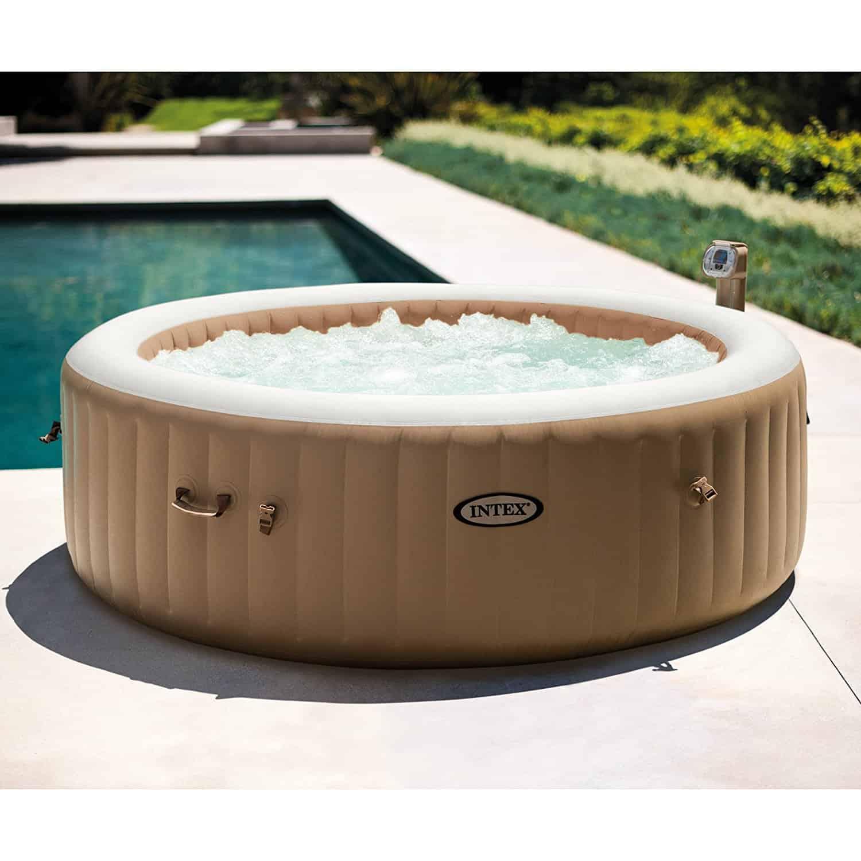 Intex 85 in pure spa portable bubble spa set